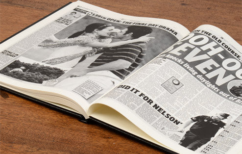 Personalised British Open Golf Newspaper Book - Personalised Gift Solutions - 6