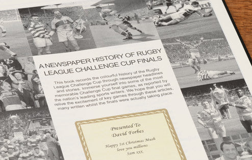 Personalised Challenge Cup Rugby Newspaper Book - Personalised Gift Solutions - 2