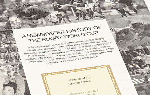 Personalised Rugby World Cup Newspaper Book - Personalised Gift Solutions - 2