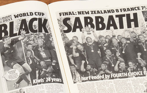 Personalised Rugby World Cup Newspaper Book - Personalised Gift Solutions - 4
