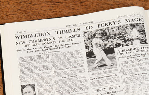 Personalised Wimbledon Tennis Newspaper Book - Personalised Gift Solutions - 4