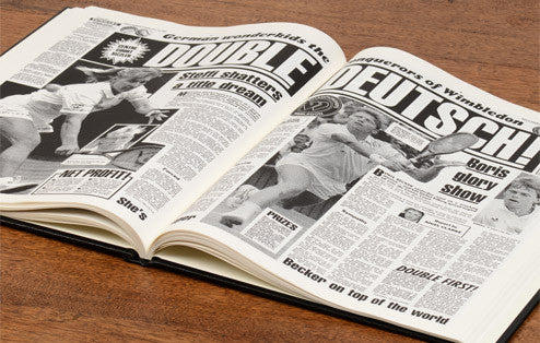 Personalised Wimbledon Tennis Newspaper Book - Personalised Gift Solutions - 6