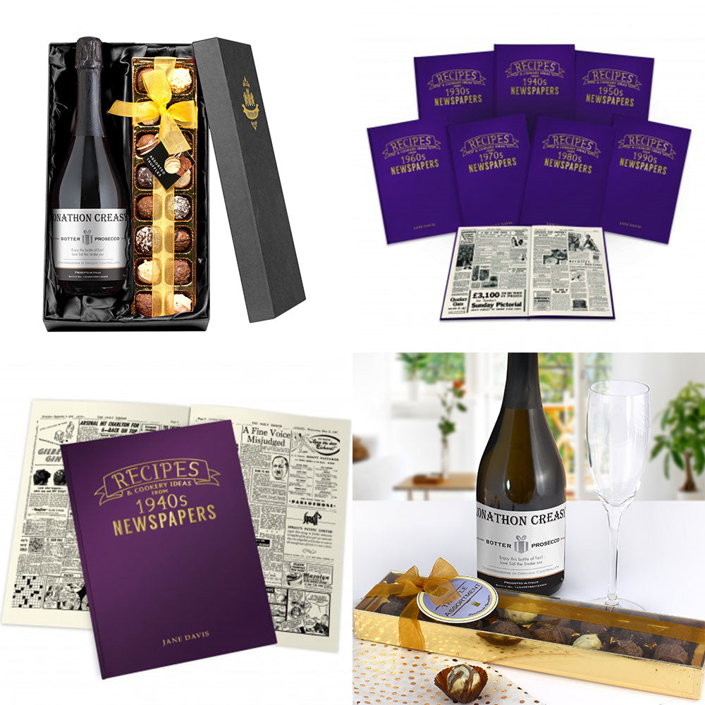 "The PGB Exclusive ""Tantalising"" Gift Set of Prosecco, Chocolate Truffles & Hard Back Decade Recipe Book"