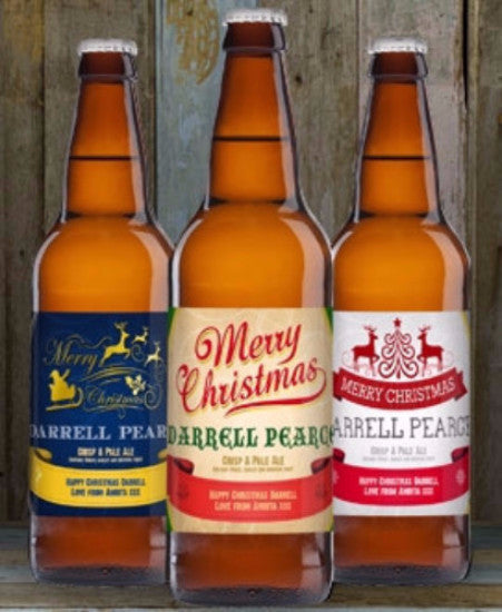 Personalised Christmas Beer Triple Pack - Personalised Gift Solutions - 1