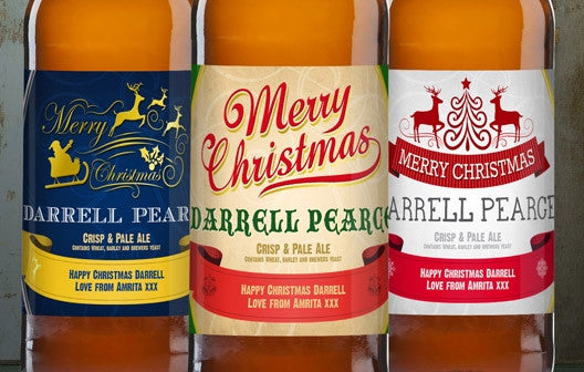 Personalised Christmas Beer Triple Pack - Personalised Gift Solutions - 2