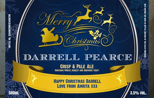 Personalised Christmas Beer Triple Pack - Personalised Gift Solutions - 3