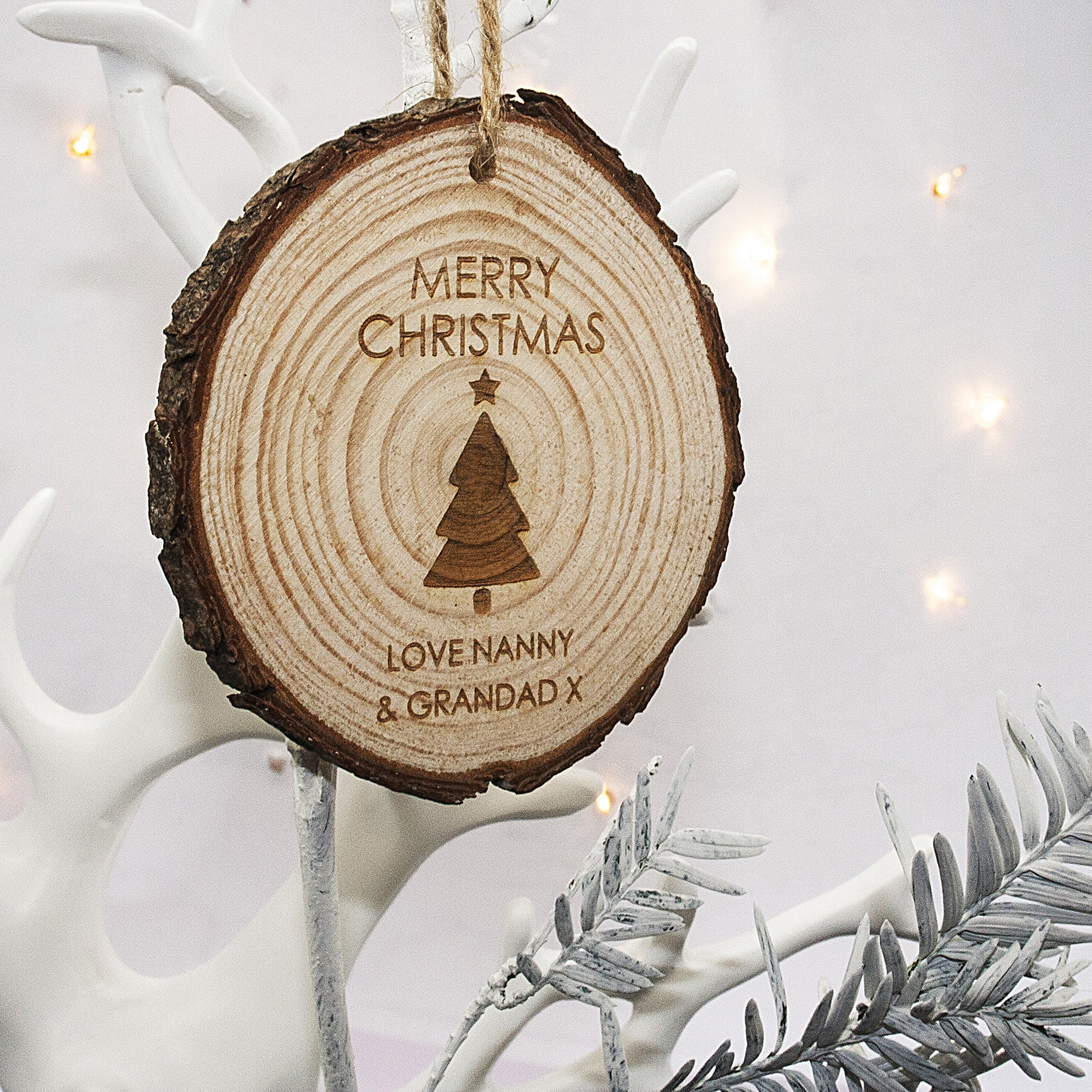 Personalised Christmas Hanging Decoration - Tree - Personalised Gift Solutions - 1