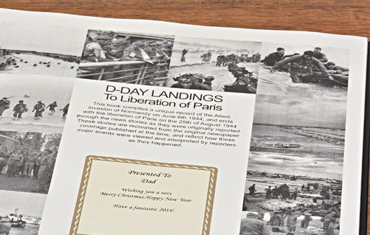 Personalised D – Day Landings Newspaper Book - Personalised Gift Solutions - 2