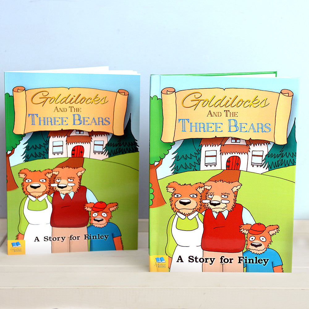 Personalised Goldilocks and Three Bears Book - Personalised Gift Solutions - 1
