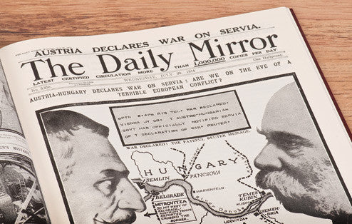 Personalised WW1 Newspaper Book - Personalised Gift Solutions - 3