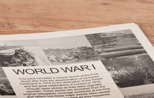 Personalised WW1 Newspaper Book - Personalised Gift Solutions - 5
