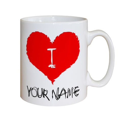 Personalised I Love Mug