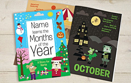 Personalised Months of the year Book - Personalised Gift Solutions - 1