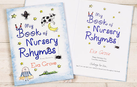 Personalised My Book of Nursery Rhymes Hardback Book