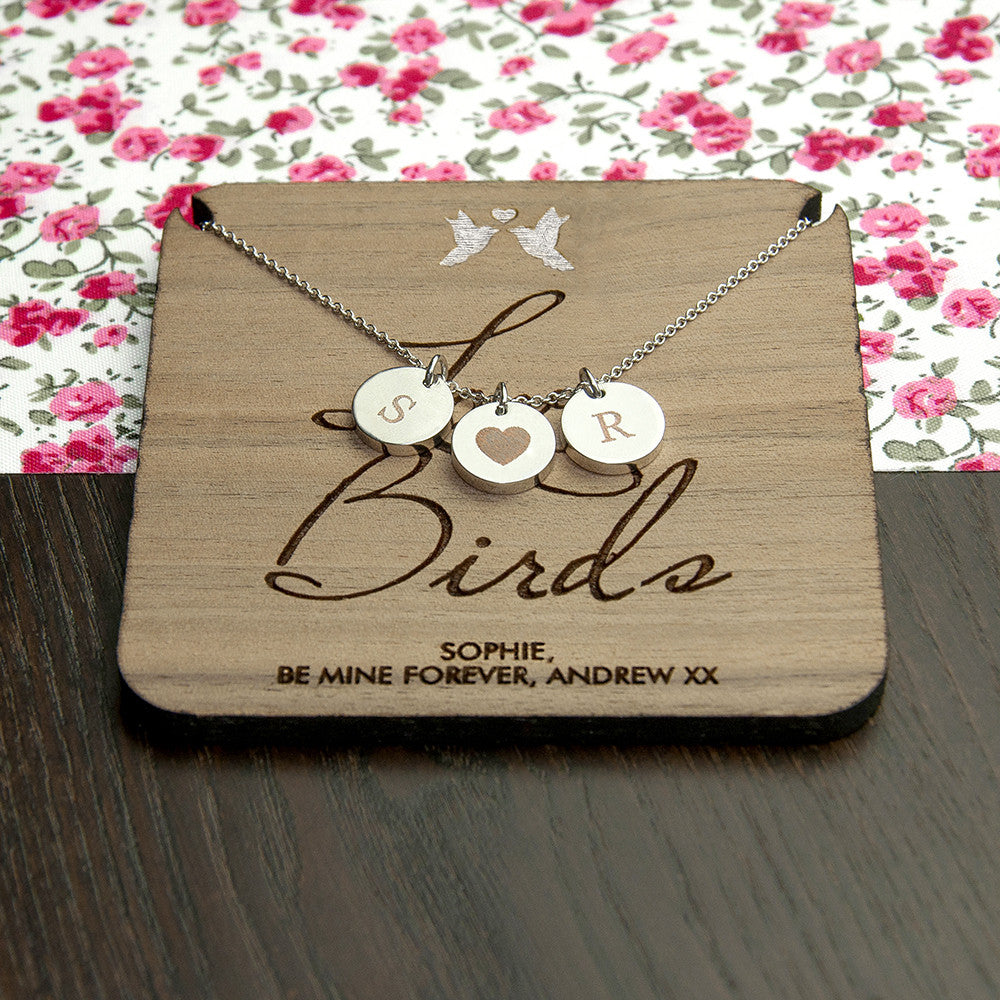 Personalised Love Birds Necklace & Keepsake - Personalised Gift Solutions - 3