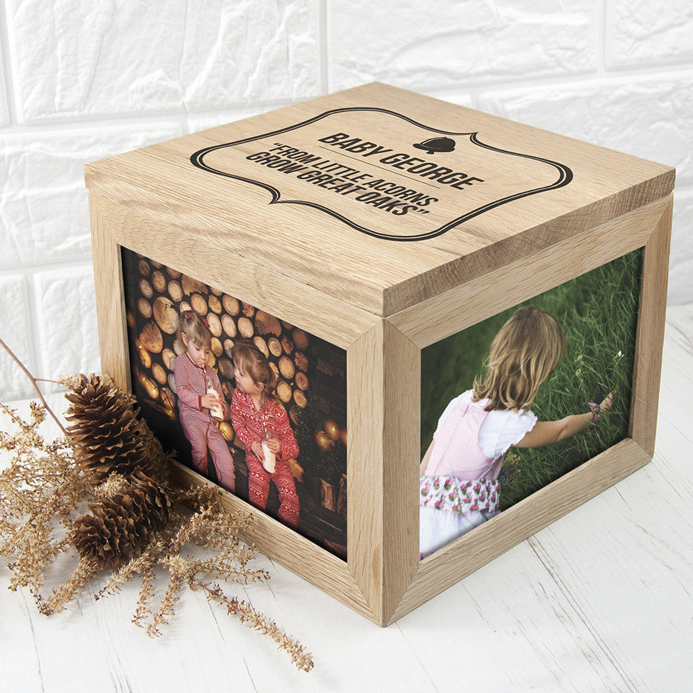 Personalised Memory Box - Large Wooden - Little Acorns