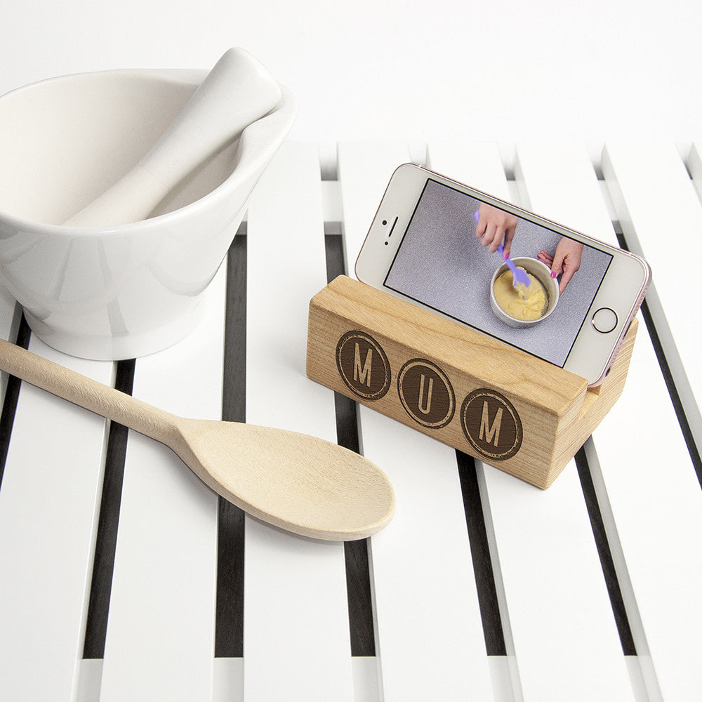 Personalised Wooden Phone Stand & Tidy - Personalised Gift Solutions - 2