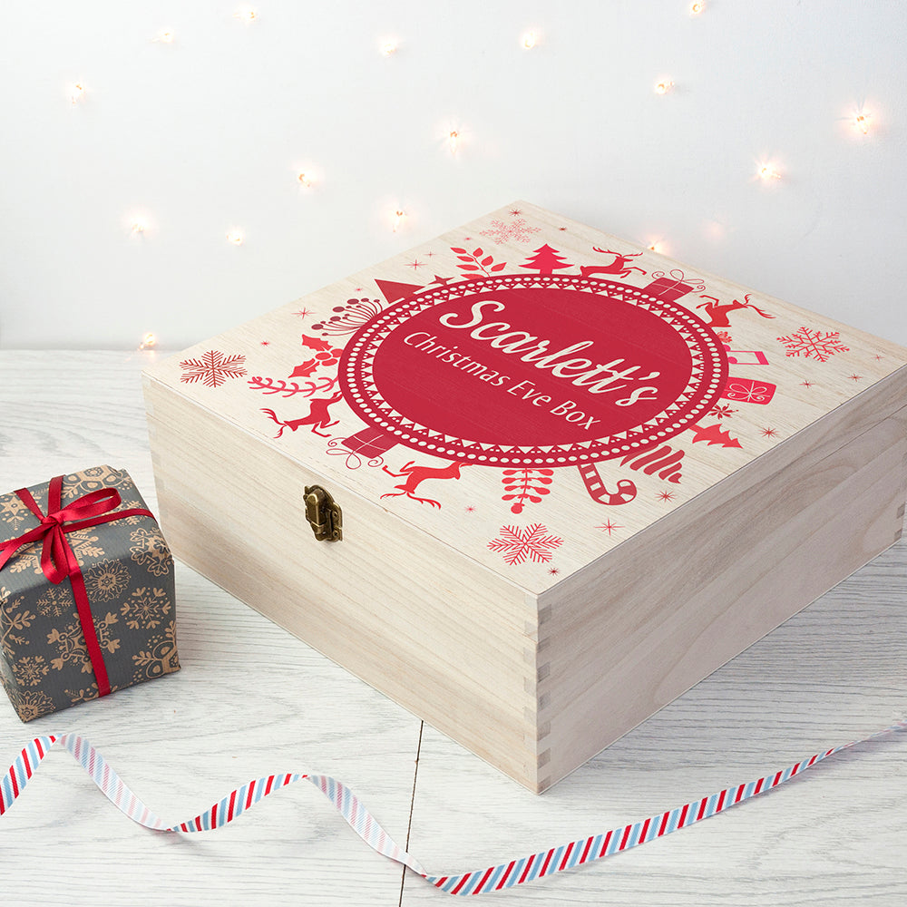 Personalised Christmas Eve Box - Wreath Design