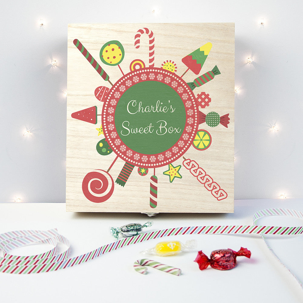 Personalised Christmas Candy Wreath Sweet Box - Personalised Gift Solutions - 1