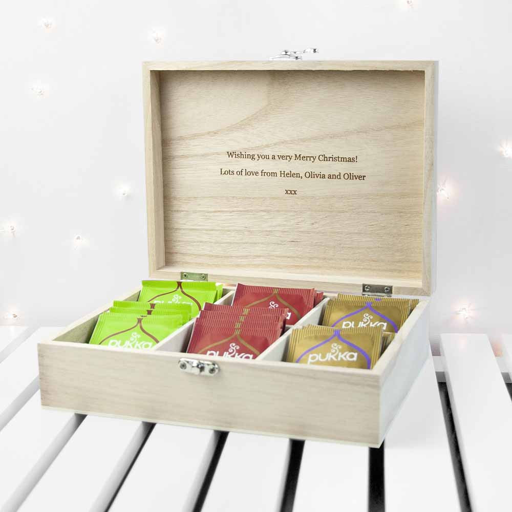 Personalised Festive Woodland Christmas Tea Box - Personalised Gift Solutions - 5
