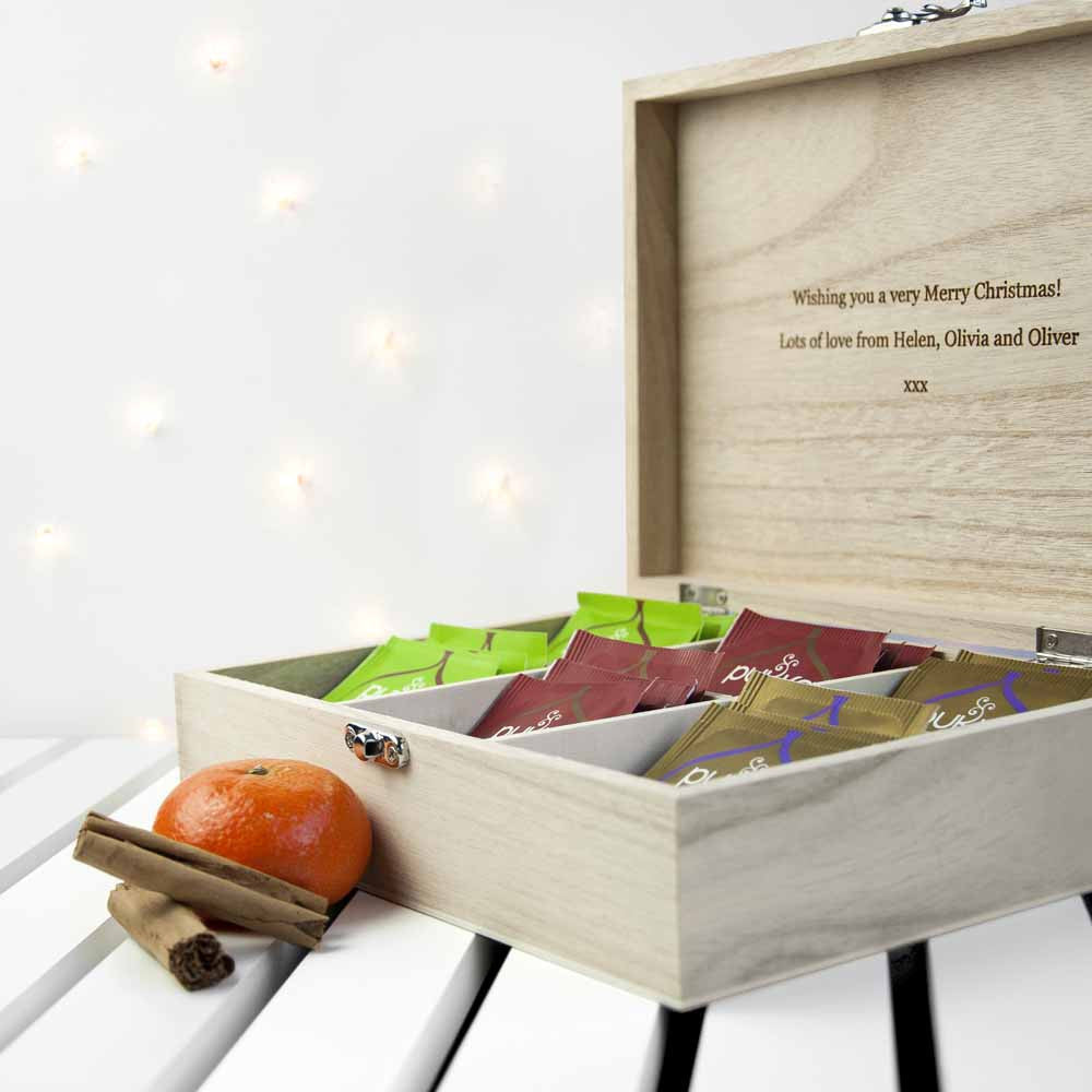 Personalised Festive Woodland Christmas Tea Box - Personalised Gift Solutions - 3