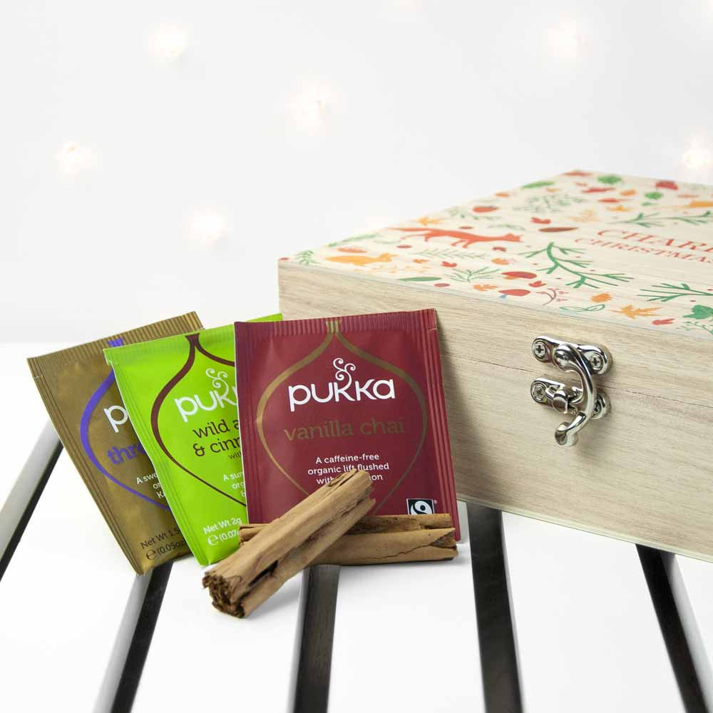 Personalised Festive Woodland Christmas Tea Box - Personalised Gift Solutions - 4
