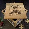 Personalised Large Oak Photo Keepsake Box - Christmas Woodland Reindeer - Personalised Gift Solutions - 1