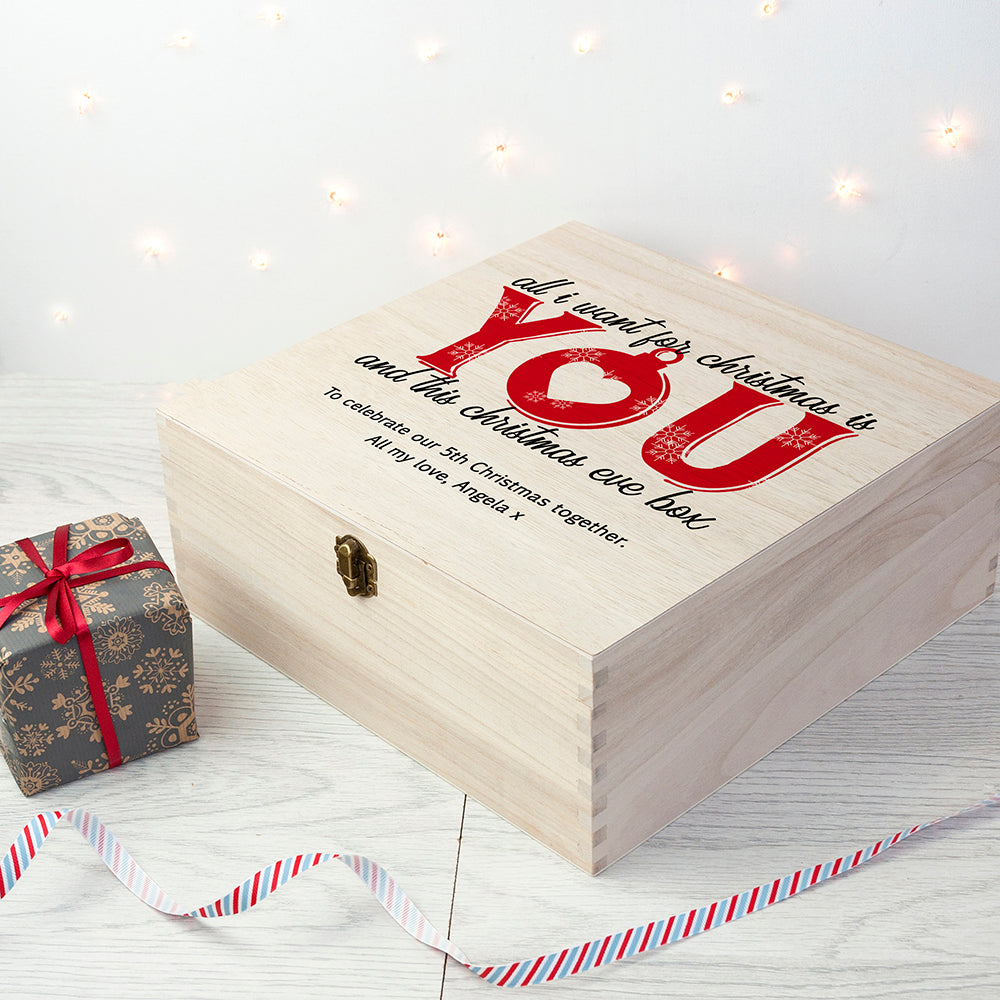 Personalised Christmas Eve Box - Couples Design