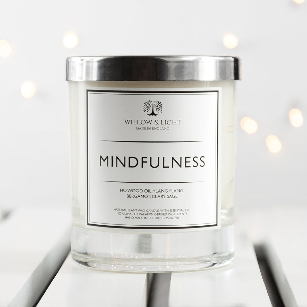 Personalised Mindfulness Candle With Copper Lid