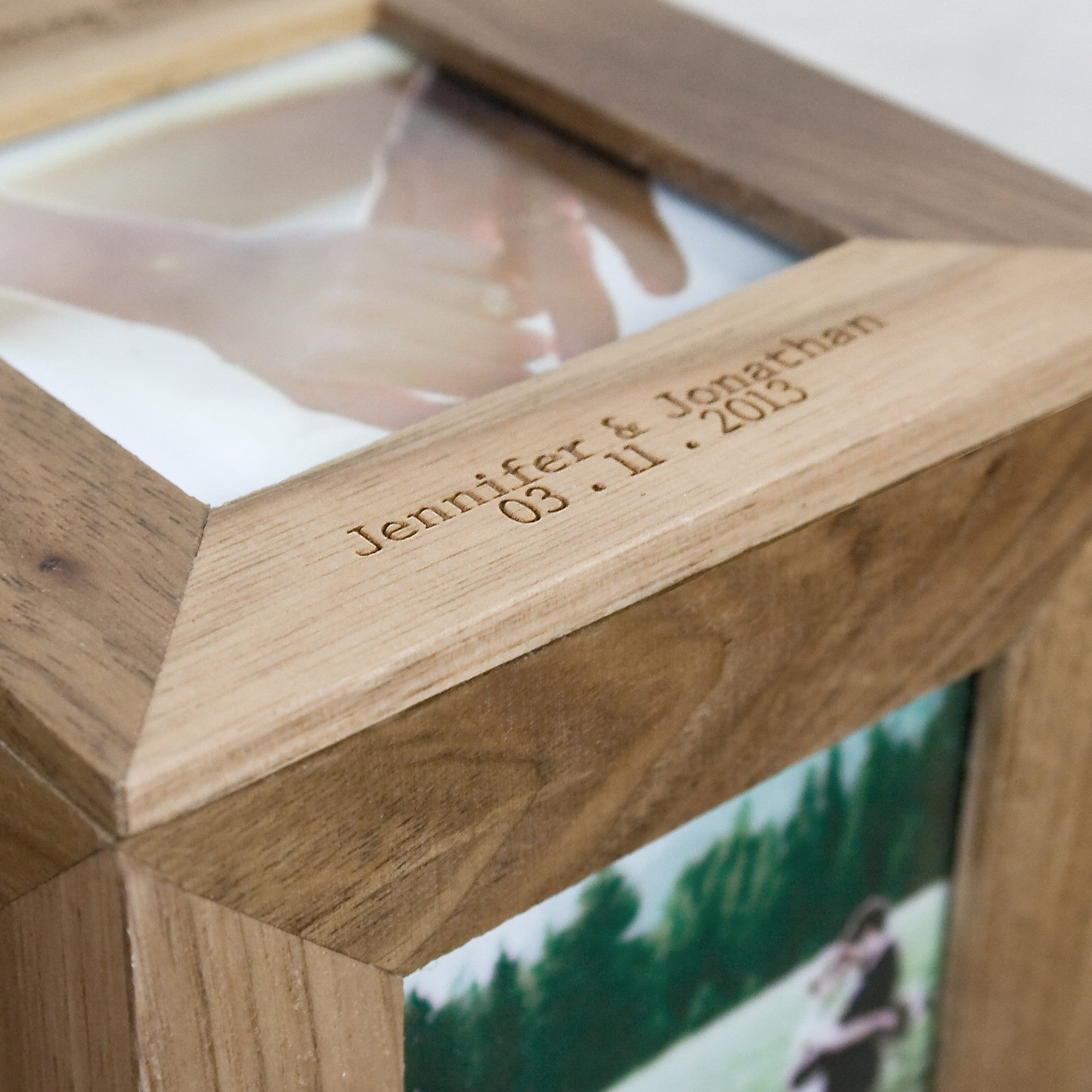 Personalised Oak Photo Cube Keepsake Box - Personalised Gift Solutions - 4