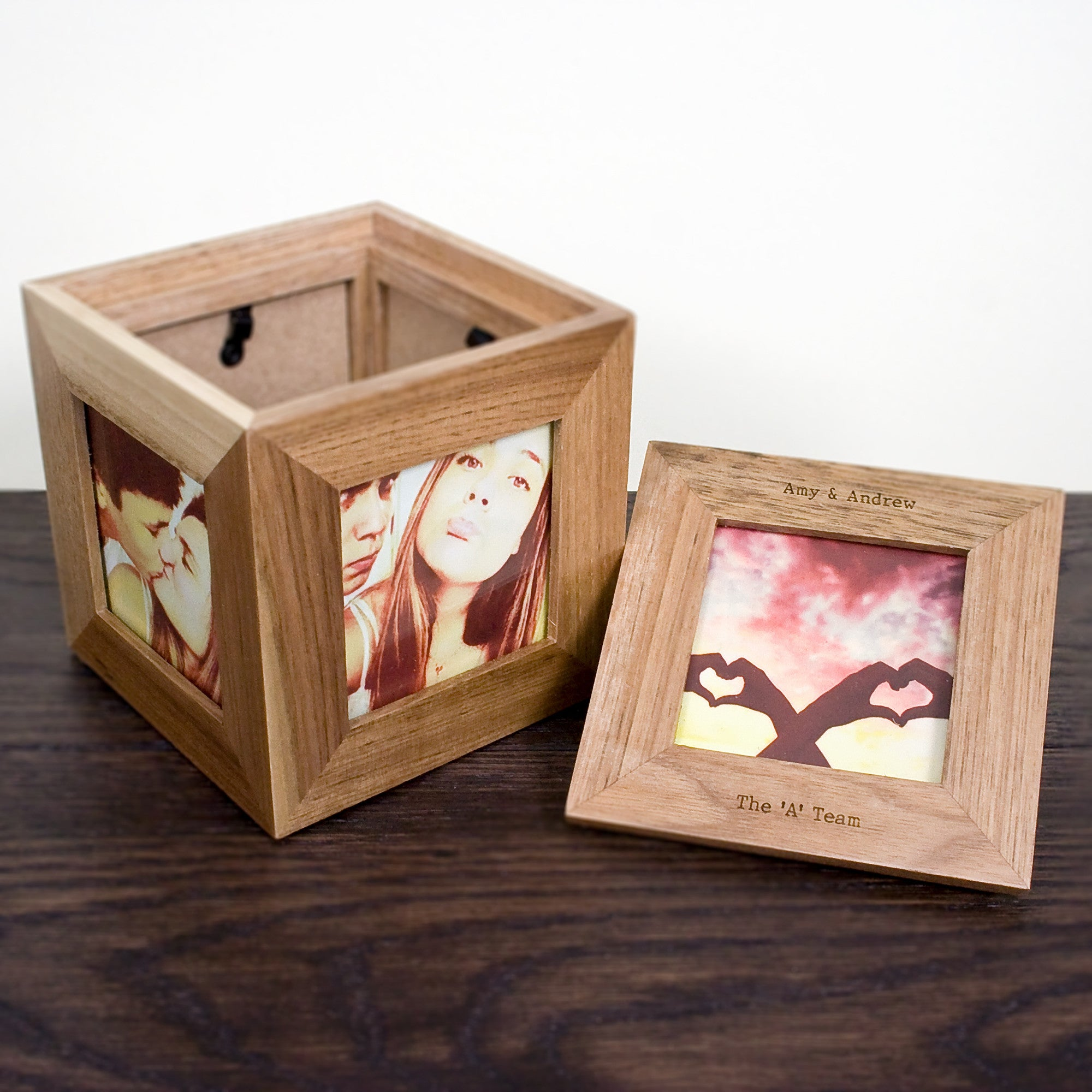 Personalised Oak Photo Cube Keepsake Box - Personalised Gift Solutions - 5
