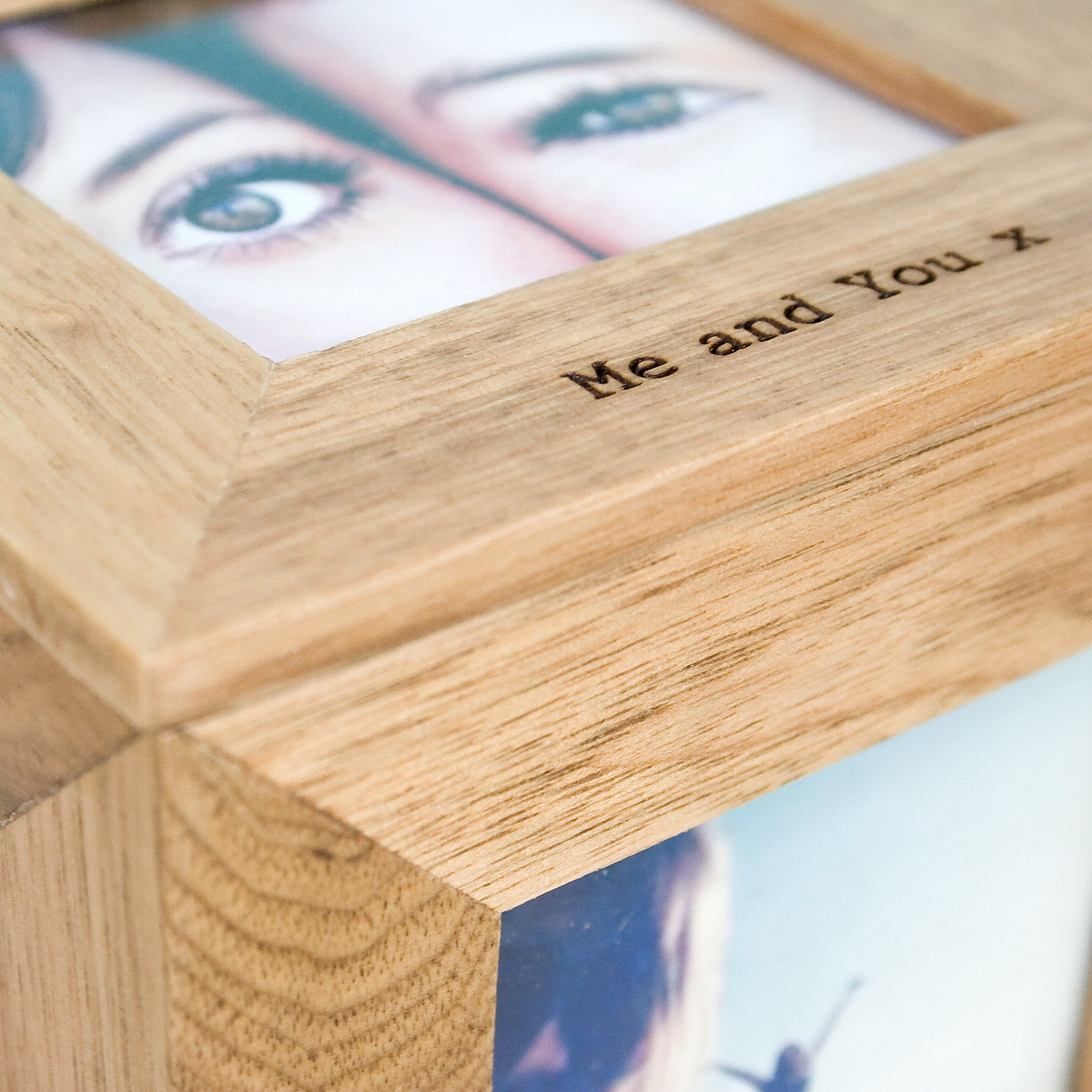 Personalised Oak Photo Cube Keepsake Box - Personalised Gift Solutions - 6