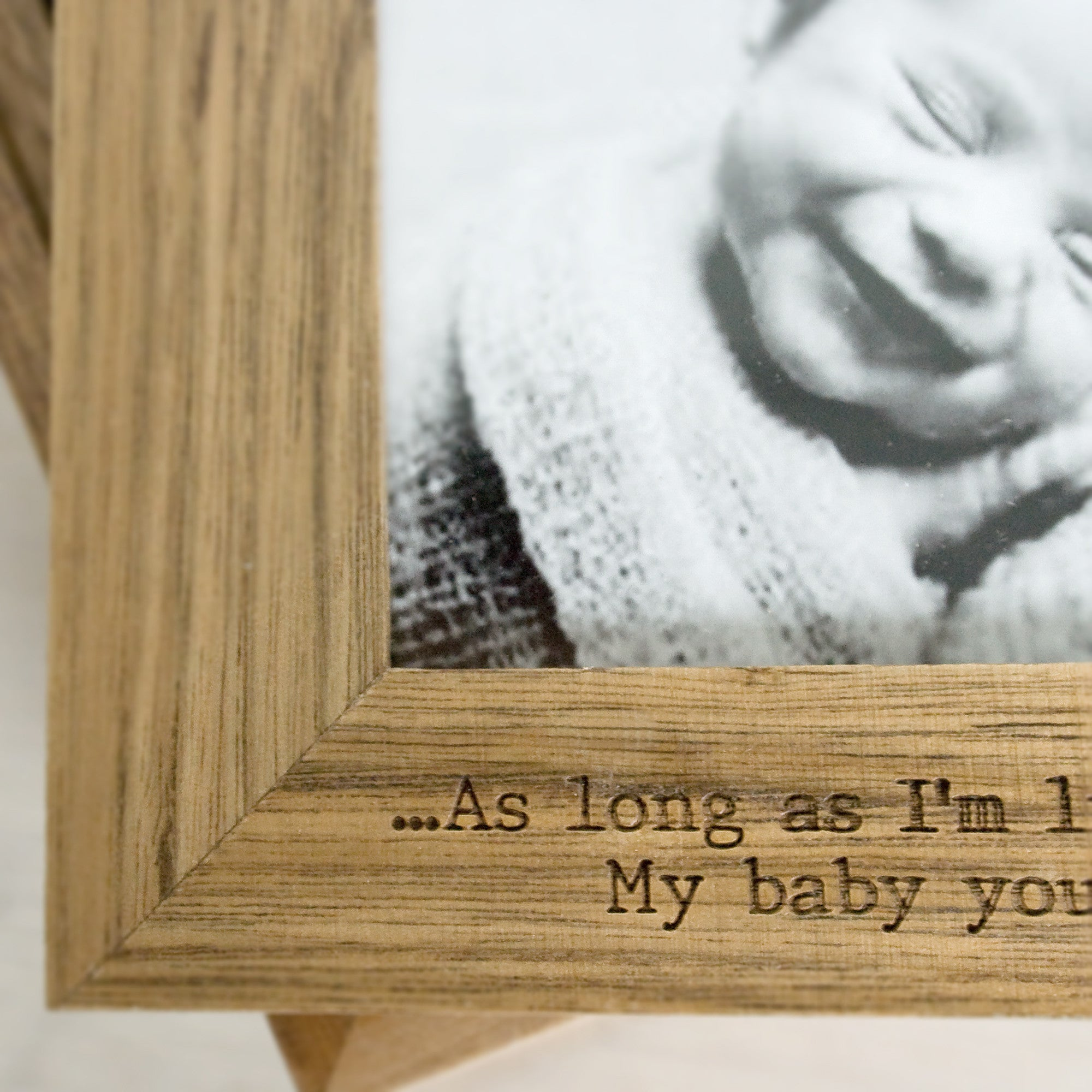 Personalised Oak Photo Cube Keepsake Box - Personalised Gift Solutions - 7