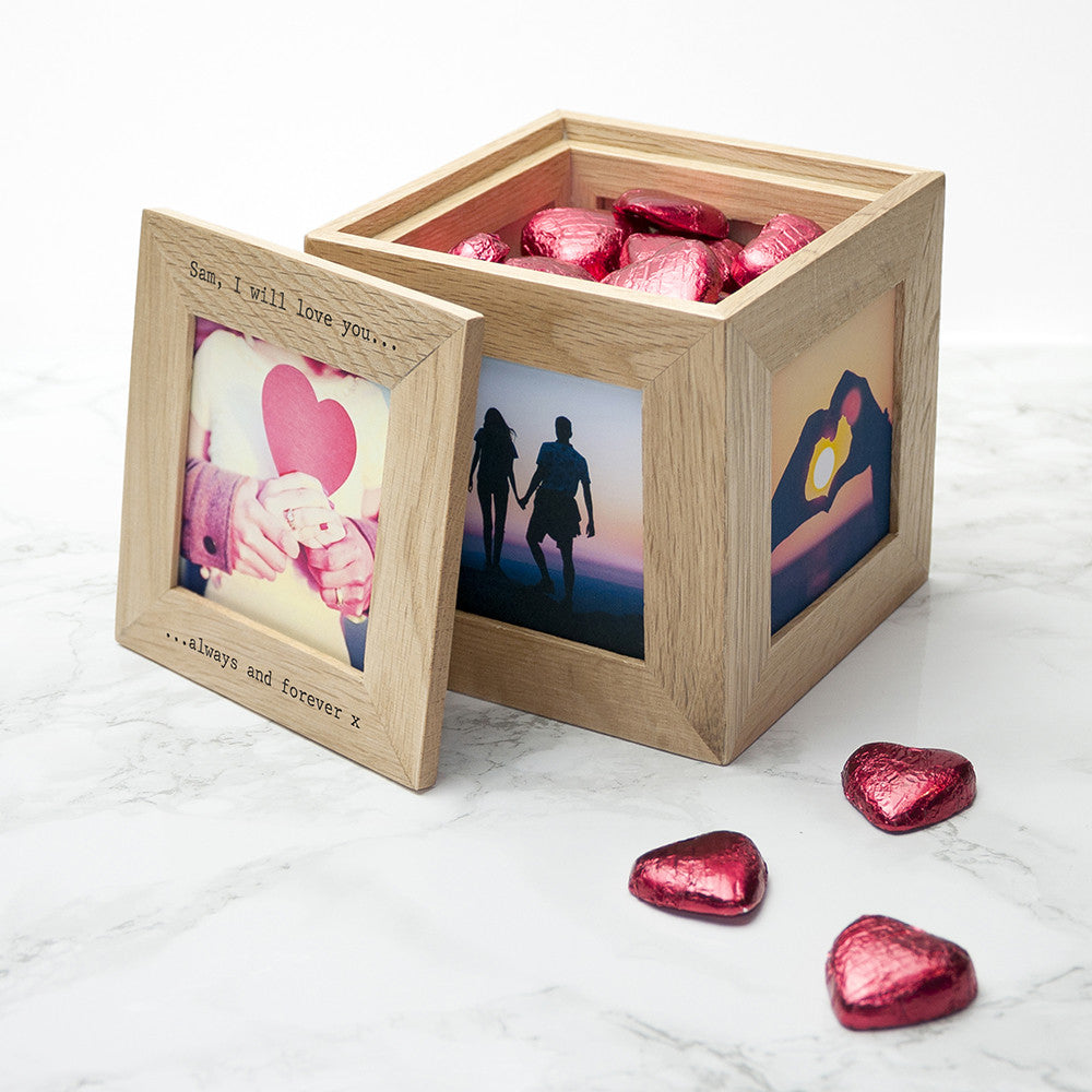 Personalised Memory Box - Small Wooden For Valentine's Day