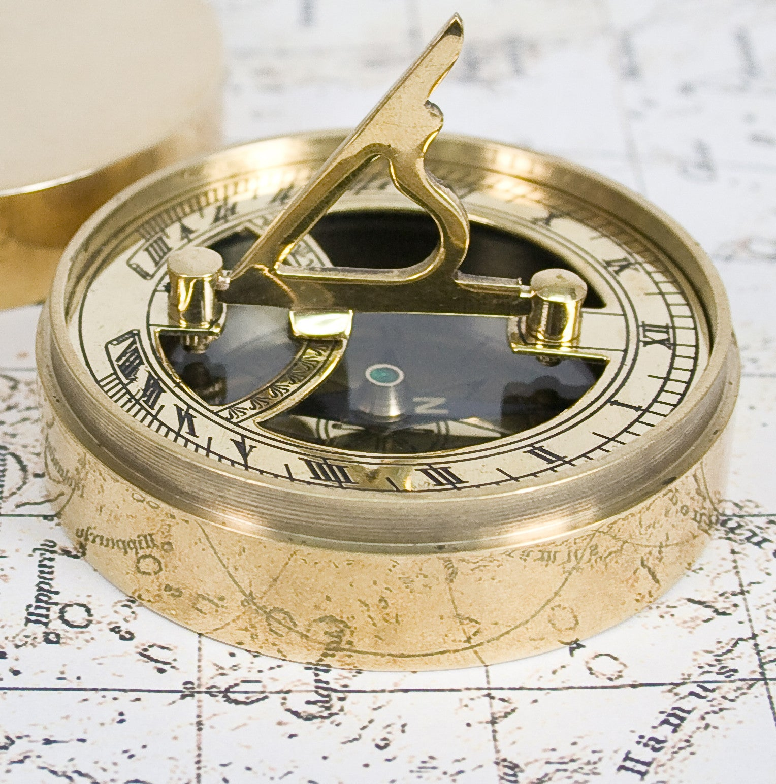 Personalised Adventurer's Brass Sundial and Compass - Personalised Gift Solutions - 3