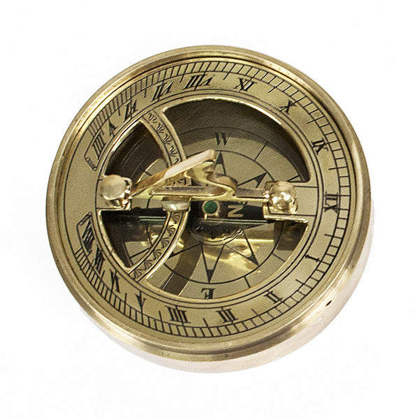 Personalised Adventurer's Brass Sundial and Compass - Personalised Gift Solutions - 4
