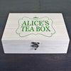 Personalised Tea Box Green - Personalised Gift Solutions - 1