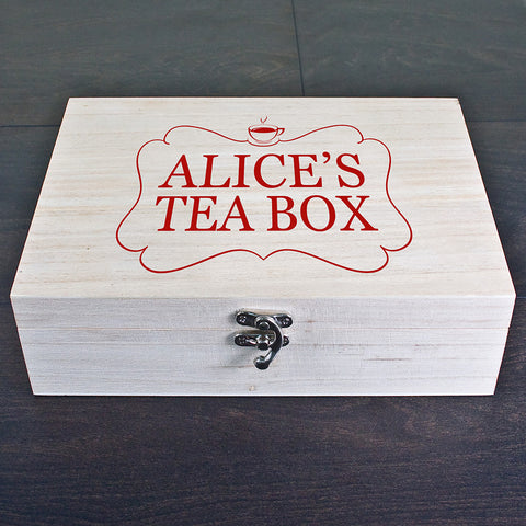 Personalised Tea Box Red