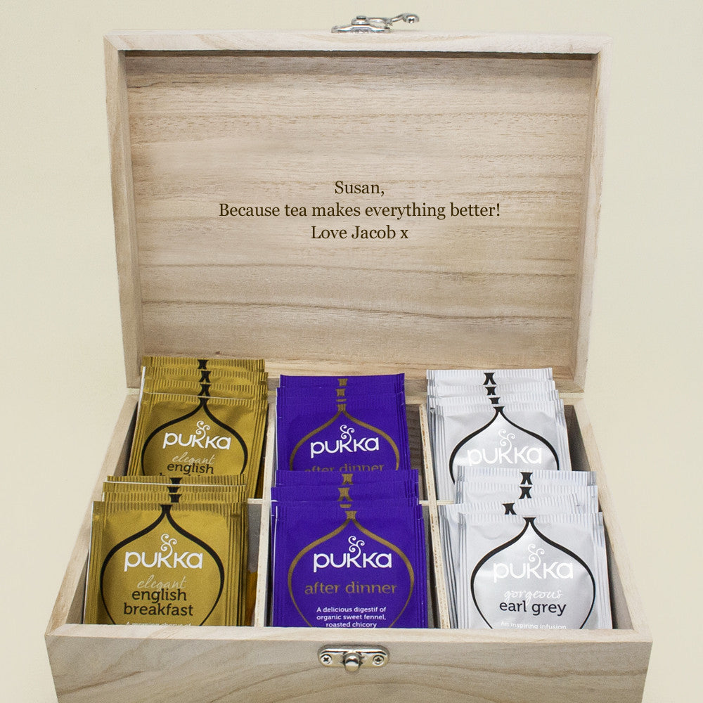 Personalised Tea Box Charcoal - Personalised Gift Solutions - 5