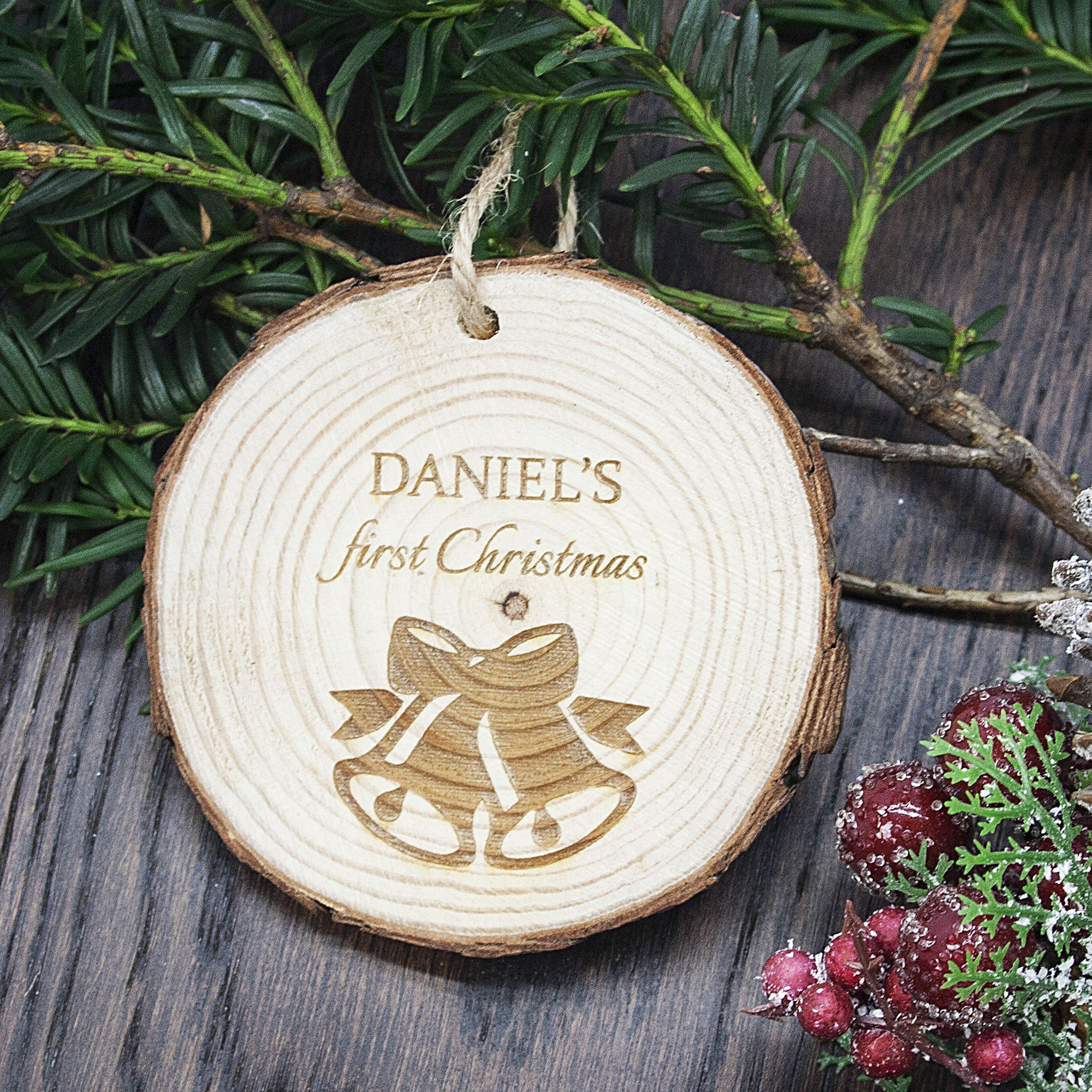 Personalised First Christmas Hanging Decoration - Bells - Personalised Gift Solutions - 2
