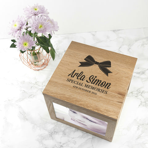 Personalised Memory Box - Large Wooden - Baby Memories