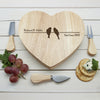Personalised Love Birds Romantic Heart Cheese Set - Personalised Gift Solutions - 2