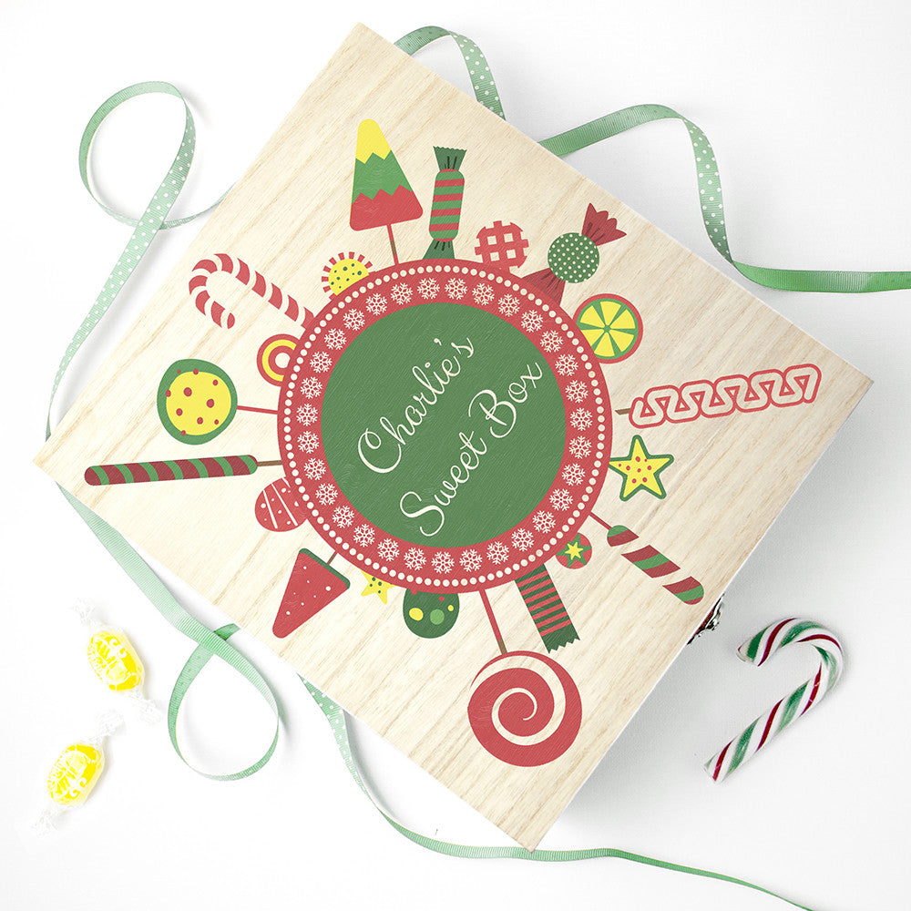 Personalised Christmas Candy Wreath Sweet Box - Personalised Gift Solutions - 3