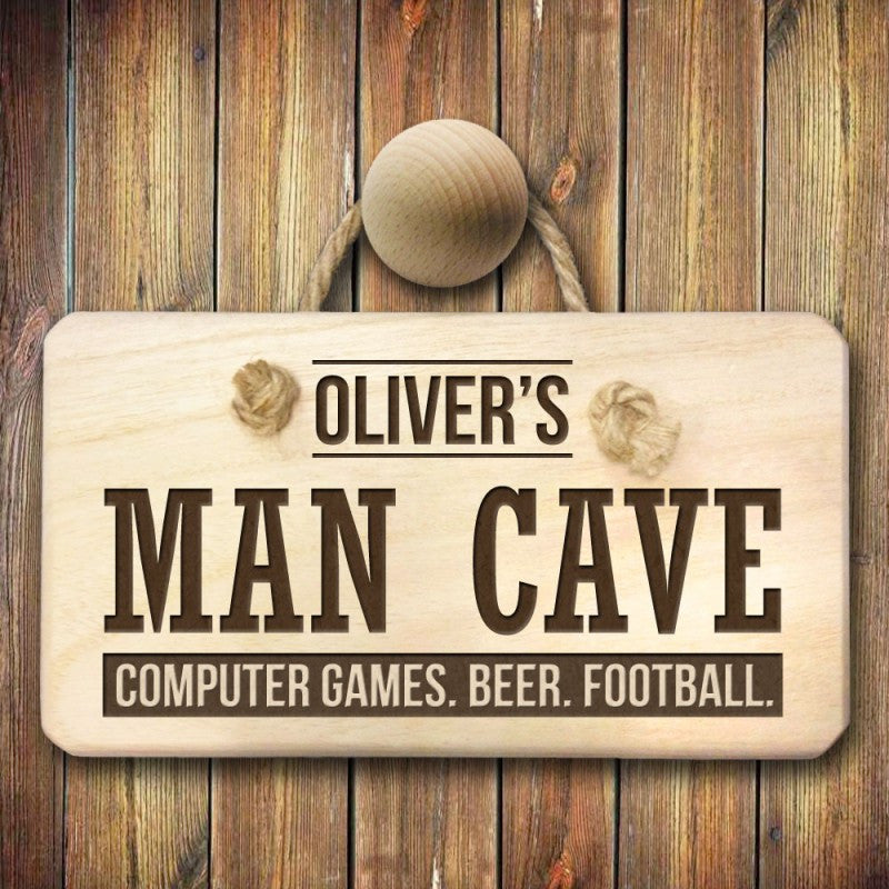 Personalised Man Cave Wooden Sign - Personalised Gift Solutions - 4