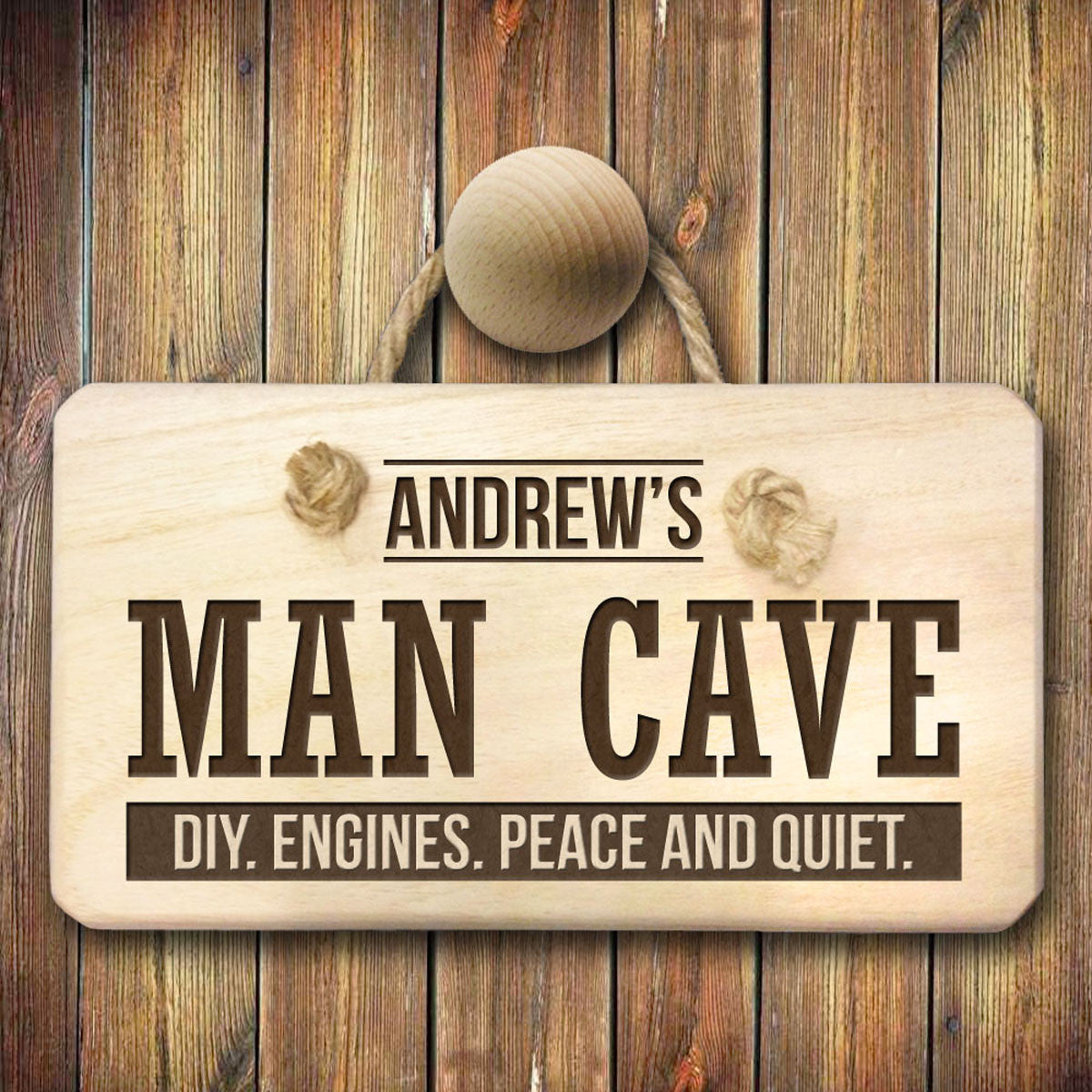 Personalised Man Cave Wooden Sign - Personalised Gift Solutions - 2