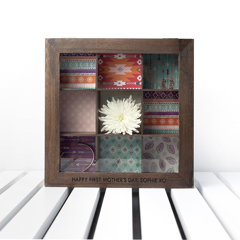 Personalised Rustic Accessory Box In Mocha
