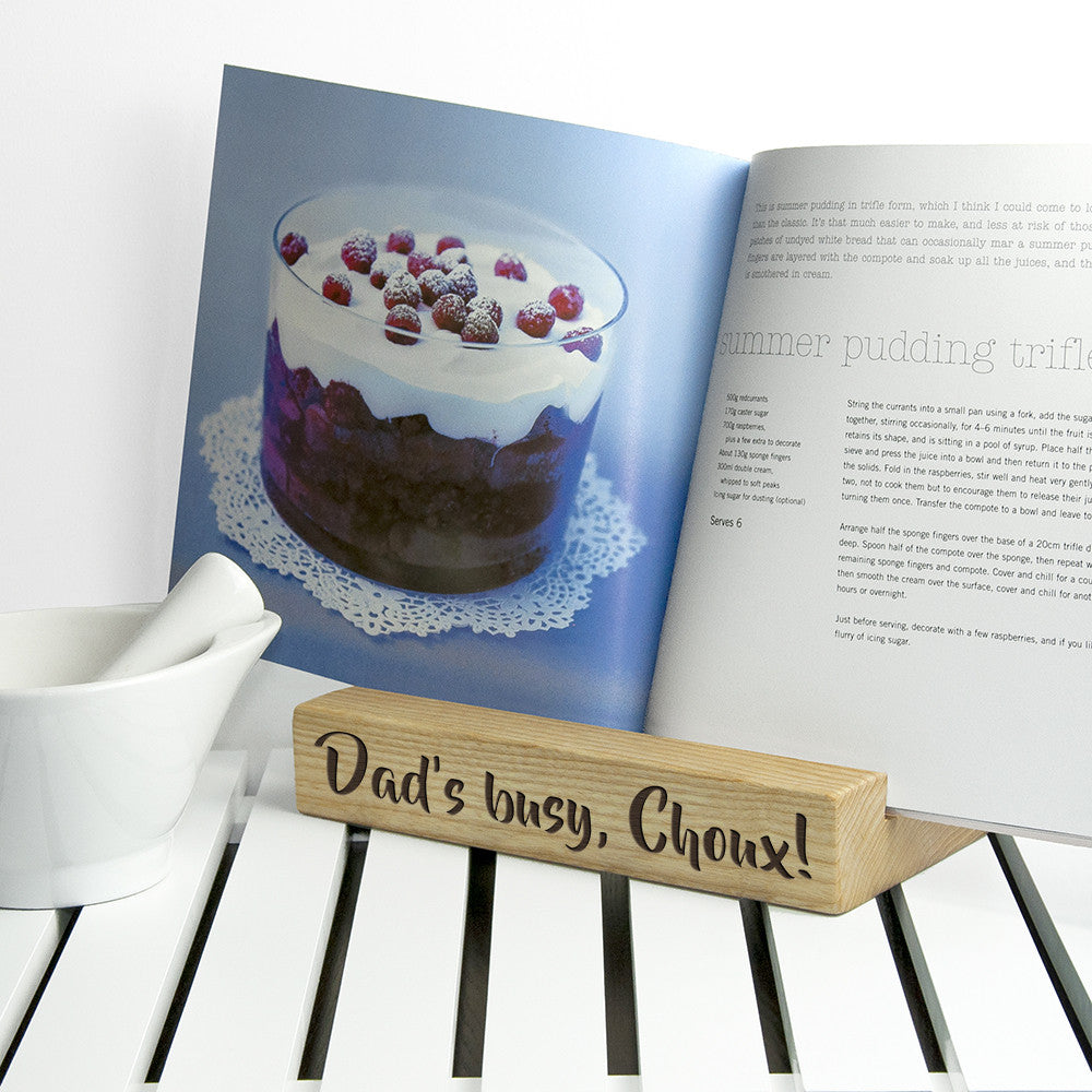 Personalised Kitchen Recipe Book or Tablet Stand - Personalised Gift Solutions - 2