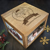 Personalised Large Oak Photo Keepsake Box - Christmas Woodland Fox - Personalised Gift Solutions - 1