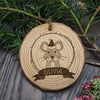 Personalised Christmas Hanging Decoration - Woodland Mouse - Personalised Gift Solutions - 1