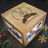 Personalised Large Oak Photo Keepsake Box - Christmas Woodland Rabbit - Personalised Gift Solutions - 1